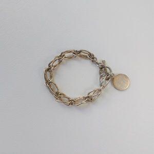 "Sterling Silver 925 Toggle Bracelet 7.5"""
